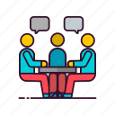 business, meeting, office icon