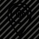 bank, location, money, pin, position icon