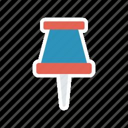 clip, marker, office, pin icon