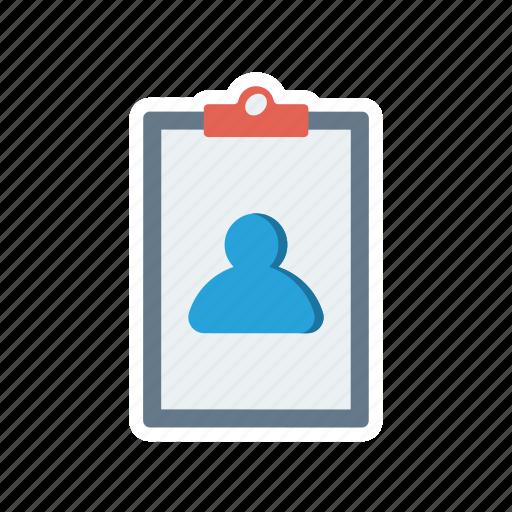 account, clipboard, profile, user icon