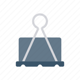 attachment, metal, office, paperclip icon