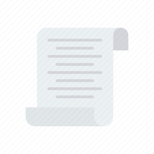bill, document, flyer, invoice icon
