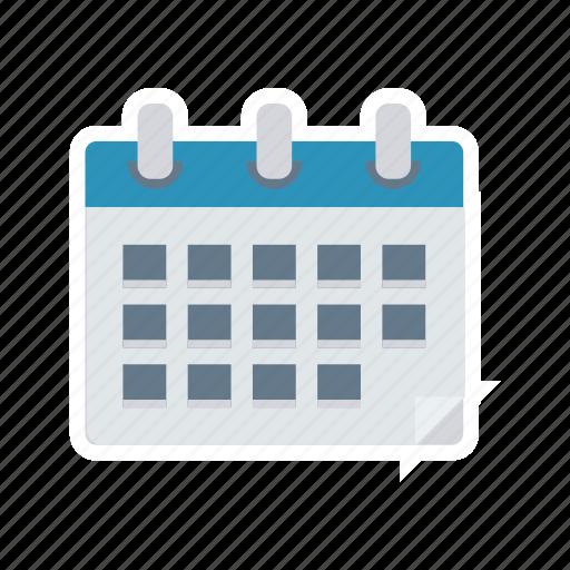 calendar, notes, schedule, year icon