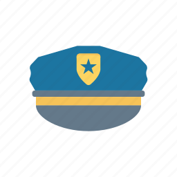 cap, hat, police, security icon