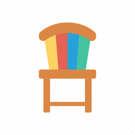 chair, furniture, office, school icon