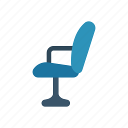 chair, furniture, home, officeroom icon