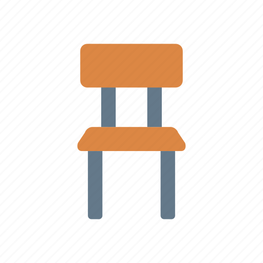 chair, furniture, home, school icon