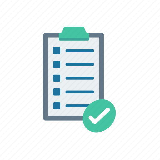 checklist, clipboard, document, task icon