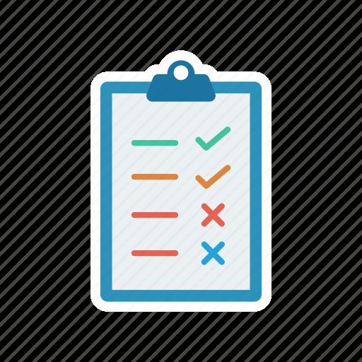 checklist, clipboard, file, list icon