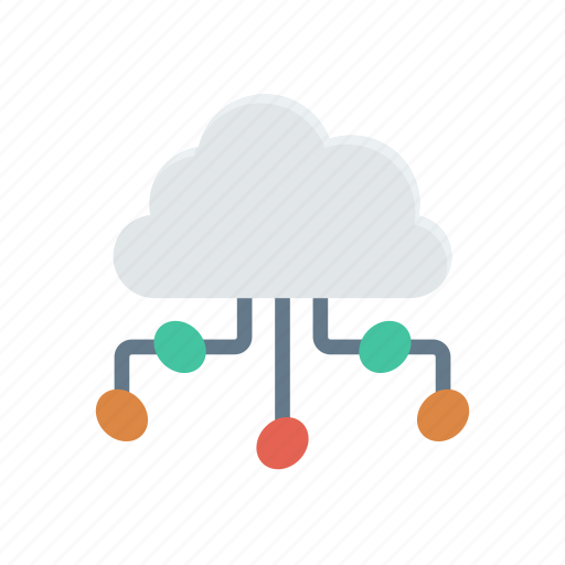 cloud, computing, databse, network icon