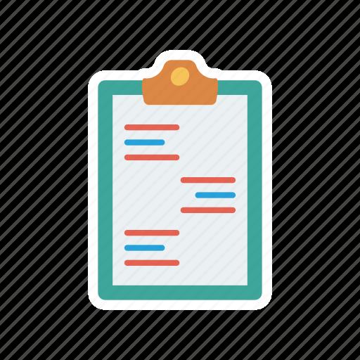 cv, document, portfolio, resume icon