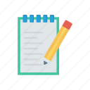 checkbox, document, edit, pen icon