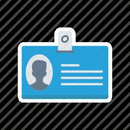 idcard, identity, pass, profile icon