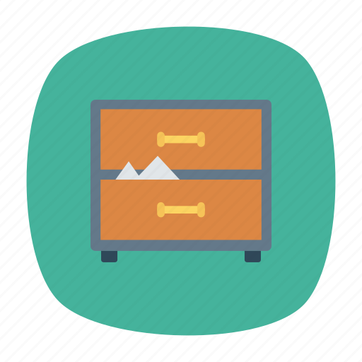 Drawer, folder, documents, office icon