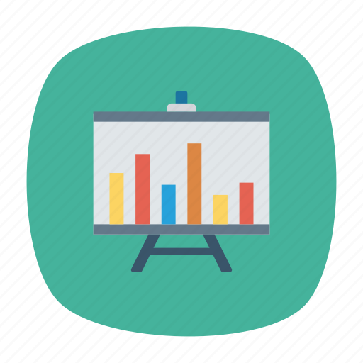 analyst, board, chart, graph icon