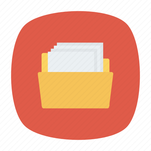archive, directory, document, folder icon