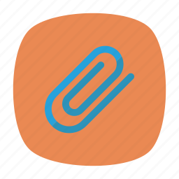 attach, clip, office, papers icon