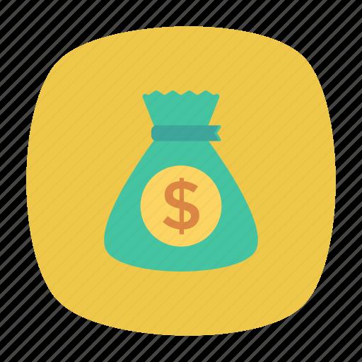 bag, cashbag, dollar, moneybag icon