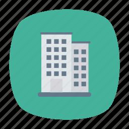 building, factory, hotel, school icon
