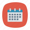 calendar, notes, schedule, year icon