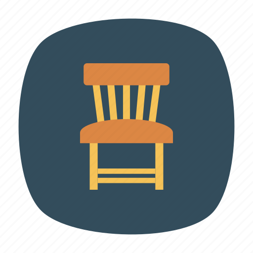 chair, furniture, home, office icon