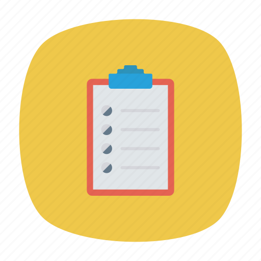 checklist, clipboard, document, todo icon