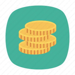 coins, currency, dollar, money icon