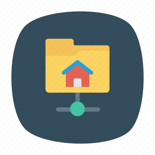 databse, folder, network, share icon