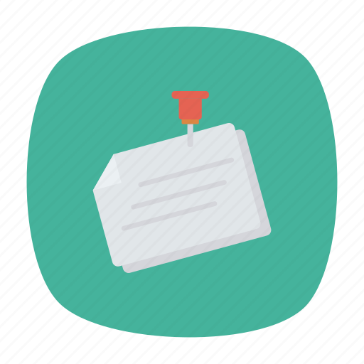 document, file, paper, pin icon