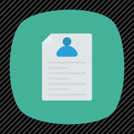 career, document, office, resume icon