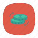 coin, earnings, income, savings icon