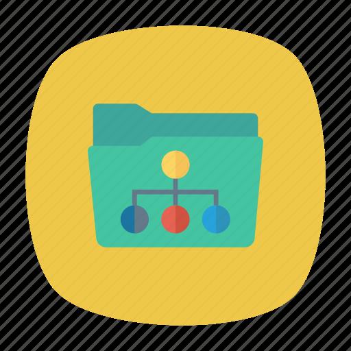 external, folder, internet, link icon