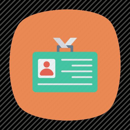 idcard, identification, identity, profile icon
