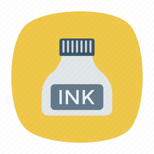 ink, inkpot, stationery, write icon