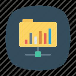 computer, databse, folder, network icon