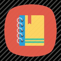 handbook, magazine, notebook, notes icon