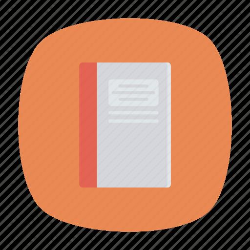 book, memo, notepad, text icon