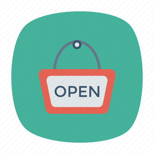 open, security, shop, store icon