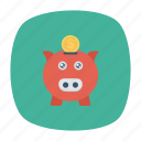 cash, money, piggybank, savings icon