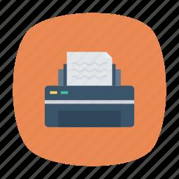 fax, office, output, printer icon