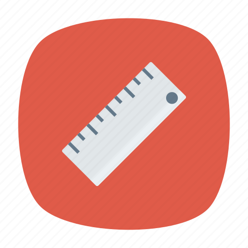scale, school, size, stationery icon