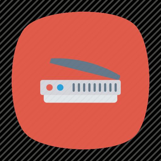 device, office, scaner, work icon