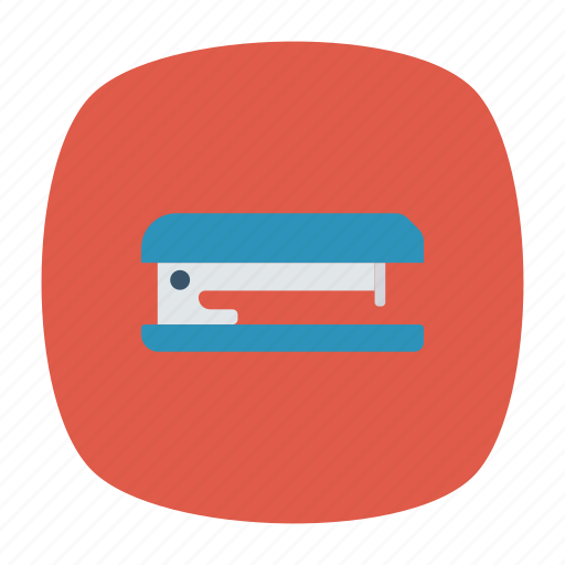 document, office, paper, stapler icon