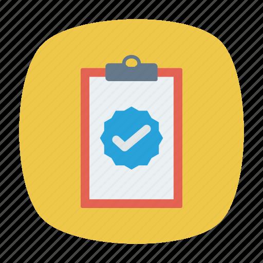 clipboard, done, success, tick icon