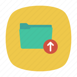 document, folder, sign, up icon