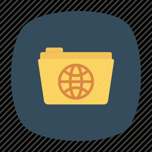 document, folder, globe, world icon