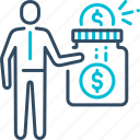 bank, business, donate, donation, savings icon