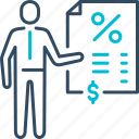 banking, bill, income, money, receipt, taxes icon
