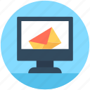 email, email screen, monitor, sending email icon