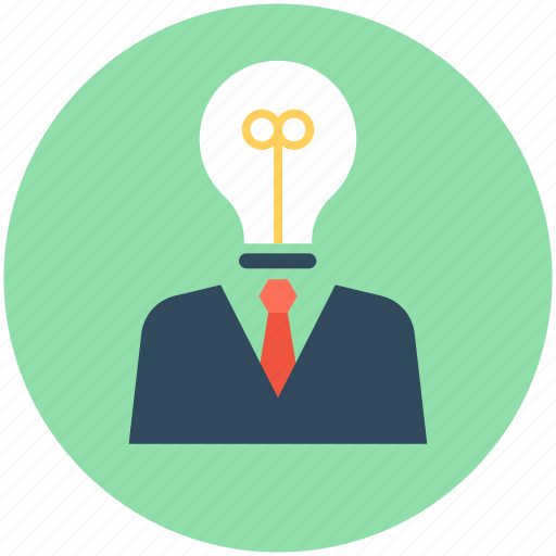 business idea, business innovation, creative mind, invention icon